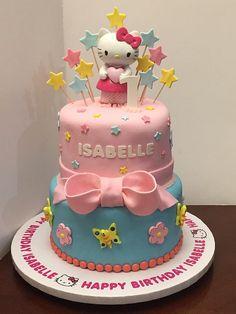 hello kitty 2tier birthday cake