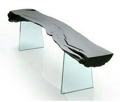 Oak and glass table by @Adrian Swinstead