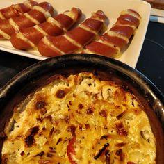 Tupun tupa: Kahden juuston kermaperunat Sausage, Meat, Food, Sausages, Essen, Meals, Yemek, Eten, Chinese Sausage