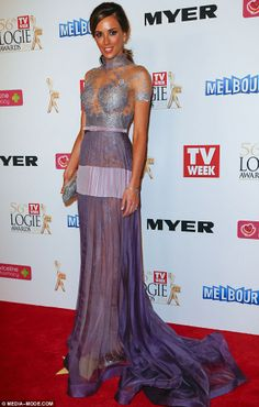Rebecca Judd stuns in lilac J'Aton couture on Logies red carpet