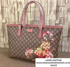 b79c8ca5e359 Gucci GG Supreme Canvas Tote Bag 211137 Blooms Print Pink 2016