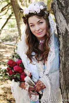 http://www.weddingwire.com/biz/pixie-vision-photography-glendale/56ba8cfc65124821.html #pixievision #weddingphotography #losangelesphotographer #offbeatweddings #offbeatbride #bride #vintage #rustic #wedding #woods #forest #bark #roses #red #pink #lace #headpiece #choker #weddingdress #fan #romantic #elegant #henna #bridalhenna #marieantoinette #vintage #RibbitTreeandPlantNursery #Topanga #California