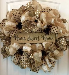 Summer Wreath For Front Door, Summer Door Wreath, Welcome Wreath, Everyday Wreath, Spring and Summer Burlap Wreaths For Front Door, Front Door Decor, Deco Mesh Wreaths, Holiday Wreaths, Door Wreaths, Country Wreaths, Winter Wreaths, Floral Wreaths, Spring Wreaths