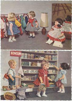 2 x AK KÄTHE KRUSE 1961 Puppe Puppen Konsum      ( 36948
