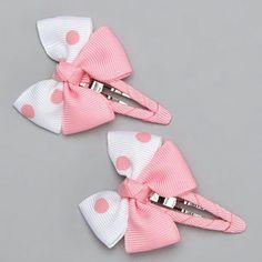 Ribbon Hair Bows, Diy Hair Bows, Bow Hair Clips, Tie Crafts, Ribbon Crafts, Diy Headband, Baby Headbands, Barrettes, Hairbows