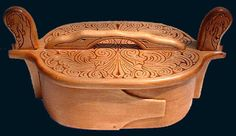 hand carved tine (lunch) box