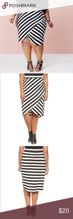 NWOT New Ava + Viv Striped Tulip Skirt Sz 4X New without tags Ava + Viv striped tulip skirt. Sz 4X. Ava & Viv Skirts