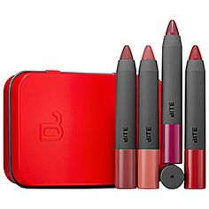 Bite Beauty - Best Bite Remix  #sephora Four Colors: Winterberry, Sable, Pomegranate, and Rhubarb. There is not a single color I don't wear non-stop. These are AMAZING. High Pigment Pencils made from all natural food-grade ingredients. Always SO well-priced, too. 10/10