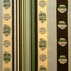 Madeleine Castaing Rayure Cachemire Percale Verte Fabric Design Clic By Edmond Pe