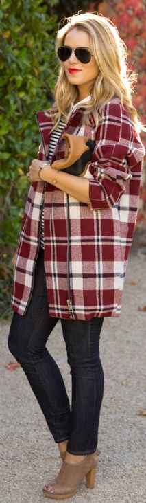 The #Plaid #Coat by Gal Meets Glam