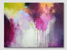 Original large abstract painting modern art by ARTbyKirsten