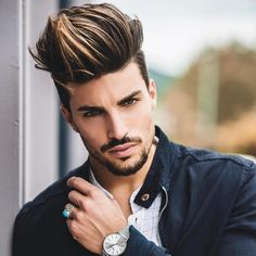 Hottest High Fade Pompadour Hairstyle Worth Trying Trendy Mens Haircuts, Cool Hairstyles For Men, Men's Hairstyles, Men's Haircuts, Modern Hairstyles, Hair And Beard Styles, Short Hair Styles, High Fade Pompadour, Mens Hair Colour