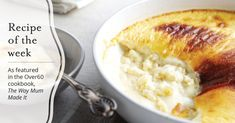 As featured in the cookbook, The Way Mum Made It, here Patricia shares her delicious baked rice custard recipe. No Cook Desserts, Delicious Desserts, Dessert Recipes, Yummy Food, Dessert Ideas, Pie Dessert, Yummy Eats, Tasty, Wine Recipes