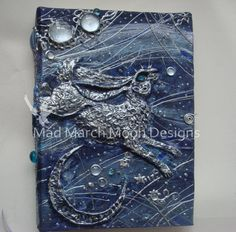 Moon Dance Hare Large 3D Handmade Journal by MadMarchMoon on Etsy