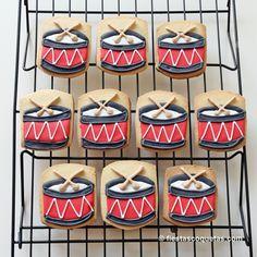 For a rockstar/musical theme: drum cookies