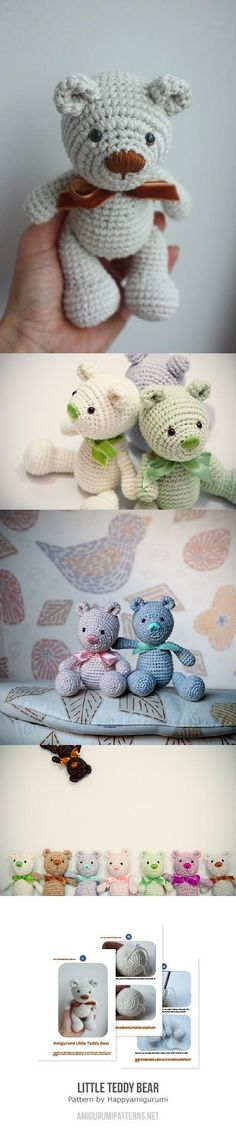 Little Teddy Bear Amigurumi Pattern