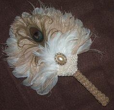 Creamy Cappuccino Feather Fan by Gypsywrytr.deviantart.com