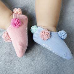 Kids Socks, Baby Socks, Pink Blue, Blue And White, Flower Ball, Ankle Socks, Baby Kids, Flowers, Fashion