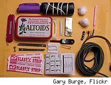 You should have one in your bug out bag packing list and one in your car. Tiny survival kit in an Altoids tin - DIY Life