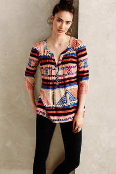 Plenty by Tracy Reese | Multicolor Dendora Peasant Top | Lyst