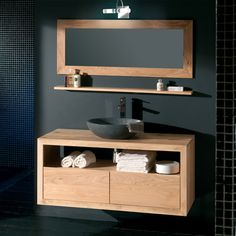 Meubles de salle de bain dans un esprit purement scandinave http://www.m-habitat.fr/installations-sanitaires/meubles-de-salle-de-bain/comment-amenager-une-salle-de-bain-770_A