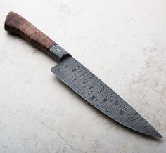Gidgee Integral Damascus Chef Knife 203mm handcrafted in Australia by Mastersmith Shawn McIntyre.