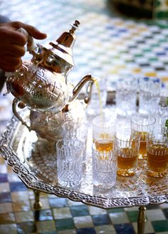 Afternoon Tea at La Mamounia, Marrakech Moroccan Decor, Moroccan Style, Modern Moroccan, Marrakech, La Mamounia, Tea Culture, Mint Tea, Arabic Food, Tea Ceremony