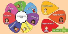 Floarea emoțiilor  - dezvoltare personală, comunicare orală, comportament social, română, jocuri,Romanian