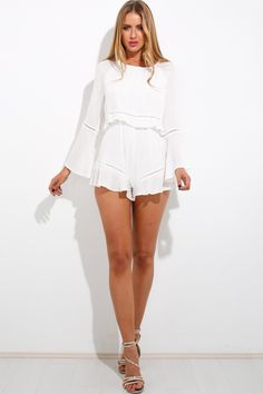 Just For You Playsuit White