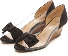 Neue Marche ウェッジパンプス / transparent wedge heels on ShopStyle