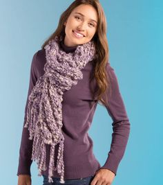 Buttercream Thick and Thin Yarn Scarf