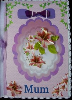 Mother's Day Card'--------MUM' by SACards on Etsy, £3.00