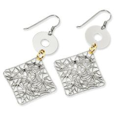 Sterling Silver and 18K Yellow Gold-plated Fancy Earrings - JewelryWeb JewelryWeb. $124.00. Save 50%!