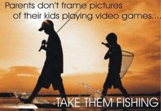 Parents don't frame pictures of their kids playing video games - take them fishing! Deep Sea Fishing, Gone Fishing, Fishing Tips, Bass Fishing, Fishing Stuff, Fishing Box, Fishing Vest, Fishing Videos, Crappie Fishing