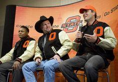 Homecoming 2010-Three OSU greats  Barry Sanders - Football, Garth Brooks - Track and Robin Ventura -Baseball