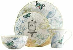 Amazon.com: 222 Fifth 16-Piece Dinnerware Set, Bergerac, Service for 4: Kitchen & Dining