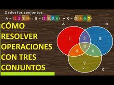 OPERACIONES CON TRES CONJUNTOS - REUNIÓN, INTERSECCIÓN, DIFERENCIA Y COM...