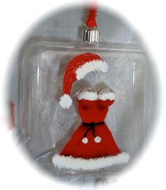 A little bit of SEXY! Mrs Clause's Handpainted Red Dress Christmas Ornament by BrushedByAnAngel, $12.00