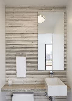Fifth Avenue Duplex Penthouse   SPG Architects   Archinect - incredible modern bathroom tile.