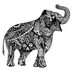 zentangle elephant - Google Search