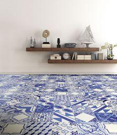 Le Riggiole_Bianco Blu 20x20