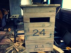 On A Crafty Adventure: DIY Pallet Letterbox