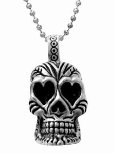 Day of the Dead Skull with Carved Heart Eyes #Pendant KING BABY STUDIO - OFFICIAL SITE