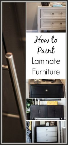 Learn the tricks to painting laminate furniture. Here are some tips on what you need to know before you start your next DIY project with laminate.