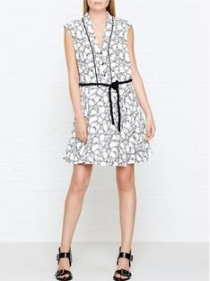 NEW IN - Kenzo Rope Print Tie Waist Dress (Item number KHMG9)