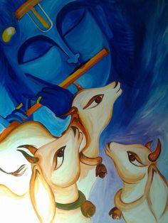 Kerala Mural Painting, Indian Art Paintings, Modern Art Paintings, Madhubani Art, Madhubani Painting, Ganesha Painting, Indian Folk Art, India Art, Buddha Art