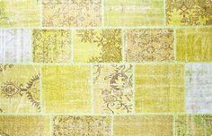 Vintage Patchwork Teppich - mozaiik Unikat Nr. 21TP