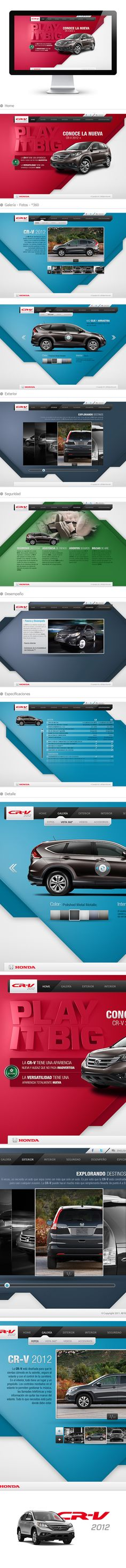 CR - V 2012 - Honda by Israel Trujillo, via Behance