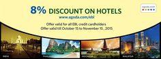8% Discount on Hotel Bookings @ EBL Card | goromgorom