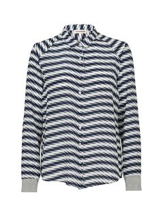 Vernie Striped Silk Shirt | Custommade.dk